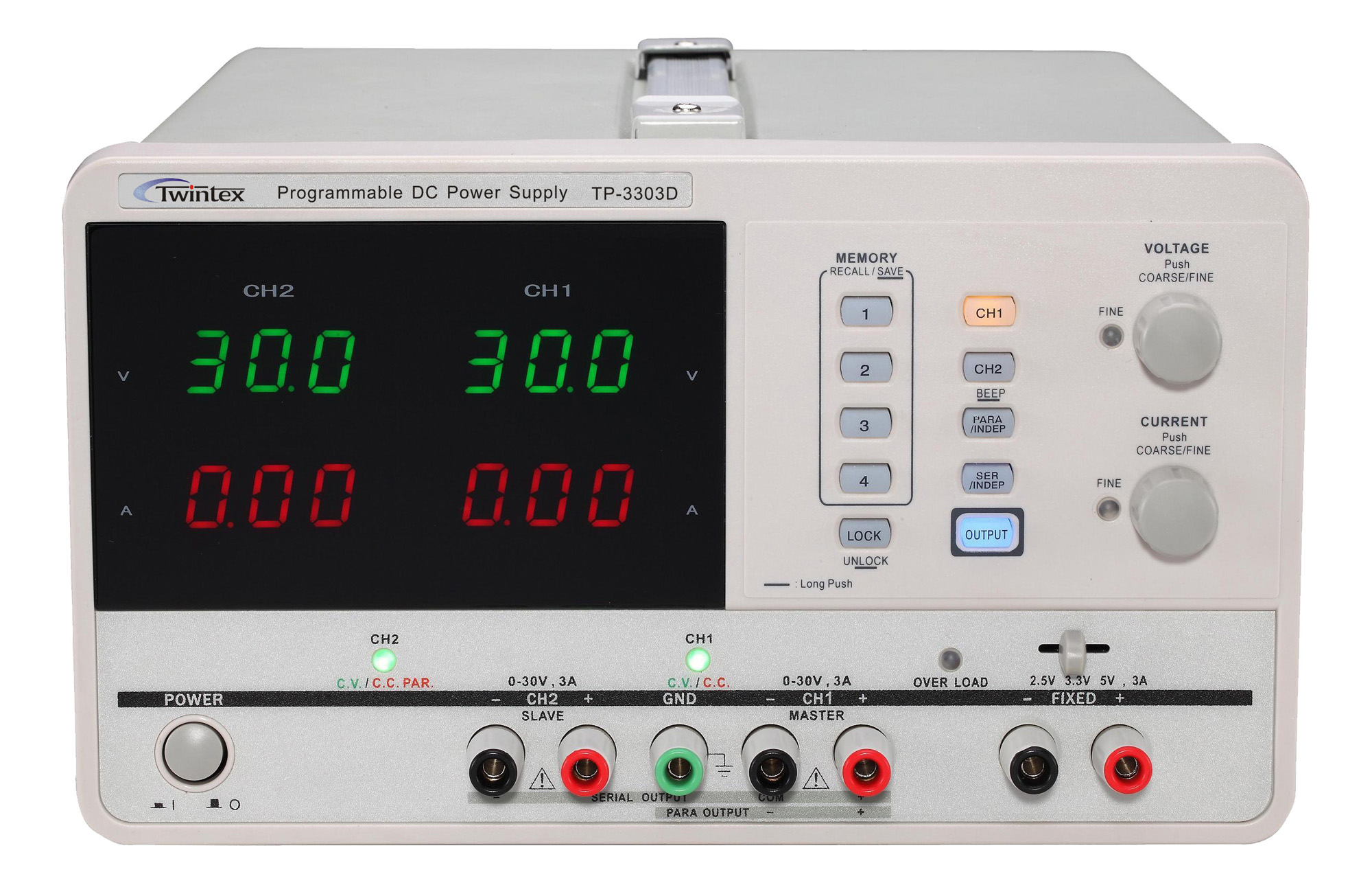 Mulitple Output Programmable Linear DC Power Supply TP3300D_Series