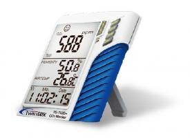 TE-702D+三合一壁掛/桌面兩用型二氧化碳計